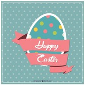 Easter egg design postcard