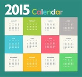 Creative New Year Calendar 2015