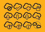 Cloud Computing Vector Icons
