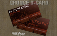 Vector Grunge B-card Template