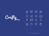 Craftyicons | Free 16 line icons PSD