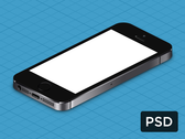 iPhone 5s True Isometric PSD