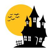 HAUNTED HOUSE VECTOR ILLUSTRATION.eps