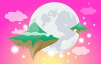 Dreamy World with Flying Islands