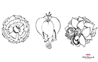 New beautiful vector flowers, part 1