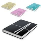 8 Hardcover Journals with Pencils Set PNG/PSD