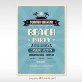 Vector summer poster free for download