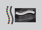 Black and White and Rainbow Wavy Piano