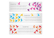 Banners Origami Birds