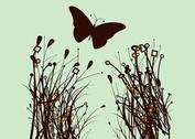 Plants And Butterfly