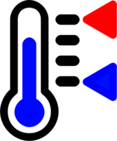 Thermometer icon with min/max indicator