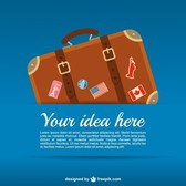 Travel suitcase vector template