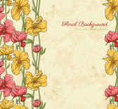 Retro patterns flowers background01