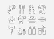 Camp Food Vector Line Icons