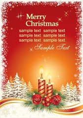 Christmas Card Vector Template