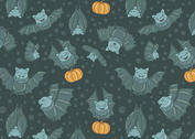 Free Flying Fox Vector Seamless Pattern