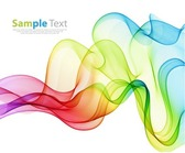 Vector Illustration of Abstract Colorful Background with Wave