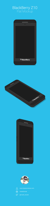 BlackBerry Z10 Flat MockUp