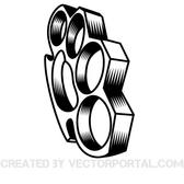 BRASS KNUCKLES VECTOR GRAPHICS.eps