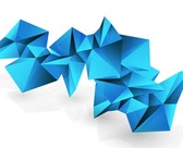 Abstract 3D Triangle Vector Modern Background