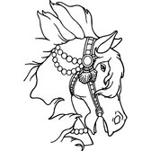 HORSE HEAD WITH BRIDLE VECTOR.eps