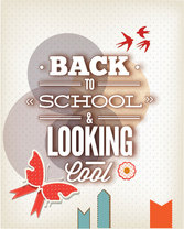 Free Abstract background back to school