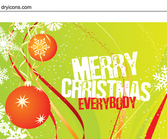 Template Christmas Card with Grungy Text