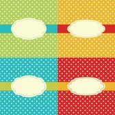 4 Vintage Style Dotted Vector Backgrounds Set