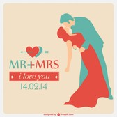 Wedding vector free template