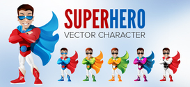 Cool Superhero Vector Character