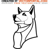 DOG OUTLINE DRAWING VECTOR.eps