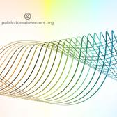 WAVY COLORFUL LINES VECTOR GRAPHICS.eps
