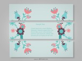 Floral Decorative Banners with Flowers