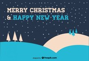 Christmas Card in Blue