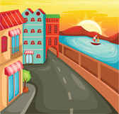 Beautiful city building vector background001