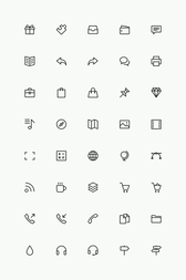 Ligne simple Icons Set Vol.3