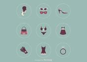 Free Female Clothing Vector Icons