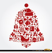 Bell shaped Christmas elements