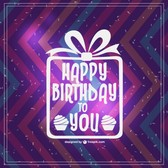 Retro Happy Birthday vector card design