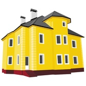 COTTAGE HOUSE VECTOR IMAGE.eps