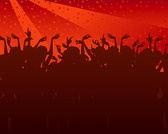 Party People Silhouettes Vector Graphic The Tide Of