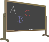 Blackboard with Stand and Letters