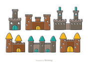 Cartoon Castle Fort Vectors