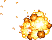 Cartoon Explosion PSD