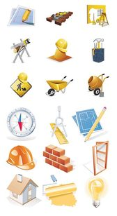 Vector Construction Site Theme Icon