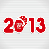 Free New 2013 year greeting card vector-2