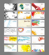 Fine Card Material 01 - Vector Quality Cards Notes