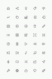 Línea simple Icons Set Vol.2