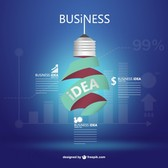 Business idea vector free template