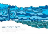 Free Vector Seascape Vector Postcard